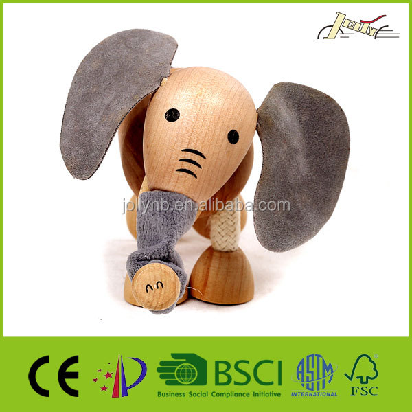 Organic Maple Wooden Animal Elephant Toy for Kids Education