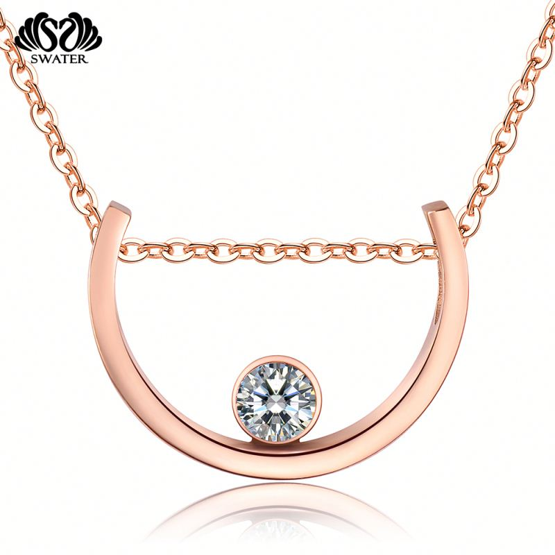 China Wholesale Rose Gold Letter D Pendant Jewelry