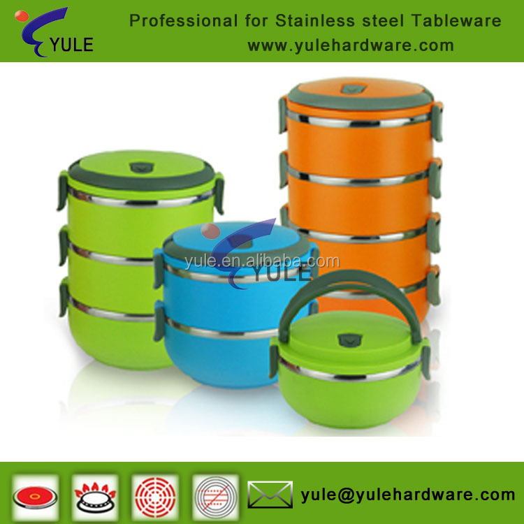 Eco friendly stainless steel storage container /lunch box with high quality
