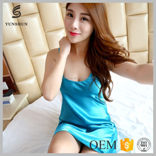 Silk Nightgown Women Long Sleeping Dress Plus Size strap nightdress