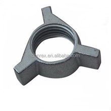 zinc plated sand casting wing nut for construction