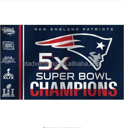 New England Patriots Flag Football Team 5X Super Bowl Champions Banners 3ft X 5ft Banner Custom Flag 90*150CM