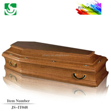 JS-IT048 solid wood good quality colors of coffin casket