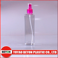 (ZY01-C020) 280ml clear square PETE bottles