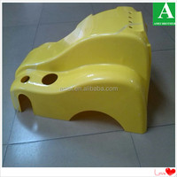 Yellow ABS plastic toy car toy body shell