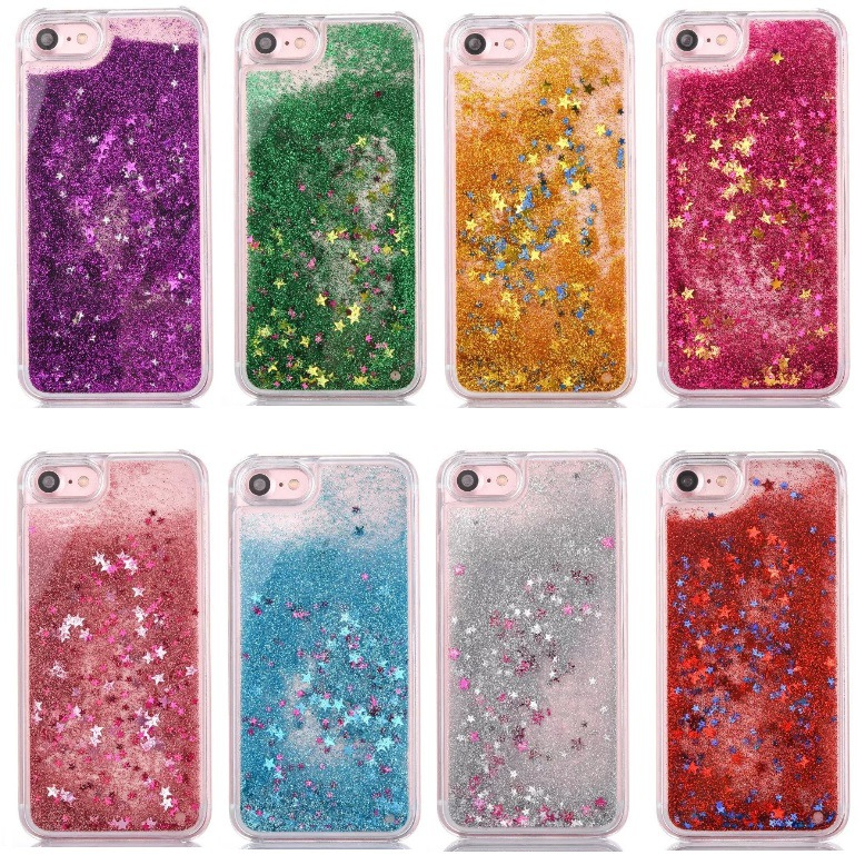 2017 TPU Quicksand Glitter Liquid TPU Case For Iphone 7,Mobile TPU Phone Case For Iphone 7