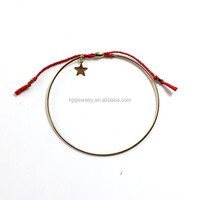 Hot sale simple design red string star charm Friendship Bracelet