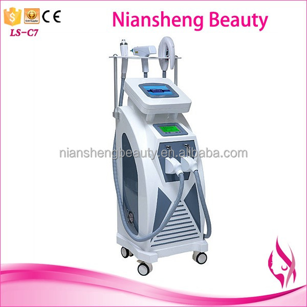 2017 double screent 3 in 1 multifunction machine for hair removal and tattoo removal