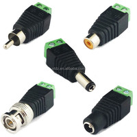 BNC Female Jack TO AV Terminals PLUG CCTV Coaxial Camera Connector Adapter