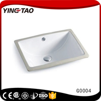 Cheap western design home use ceramic sink square under counter shampoo basin
