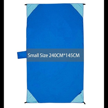 Picnic Blanket Lightweight Compact Sand Proof Beach Blanket Mat for Camping Hiking Multi-use Outdoor Blanket with Pockets