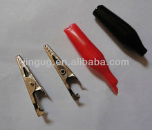 small type red black alligator clip for testing
