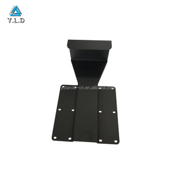 Precision Sheet Metal Fabrication Custom Black Powder Coating Steel Monitor Stand For Racing Seat