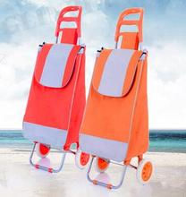 Fabric foldable shopping bag personal disabled folding shopping cart trolley