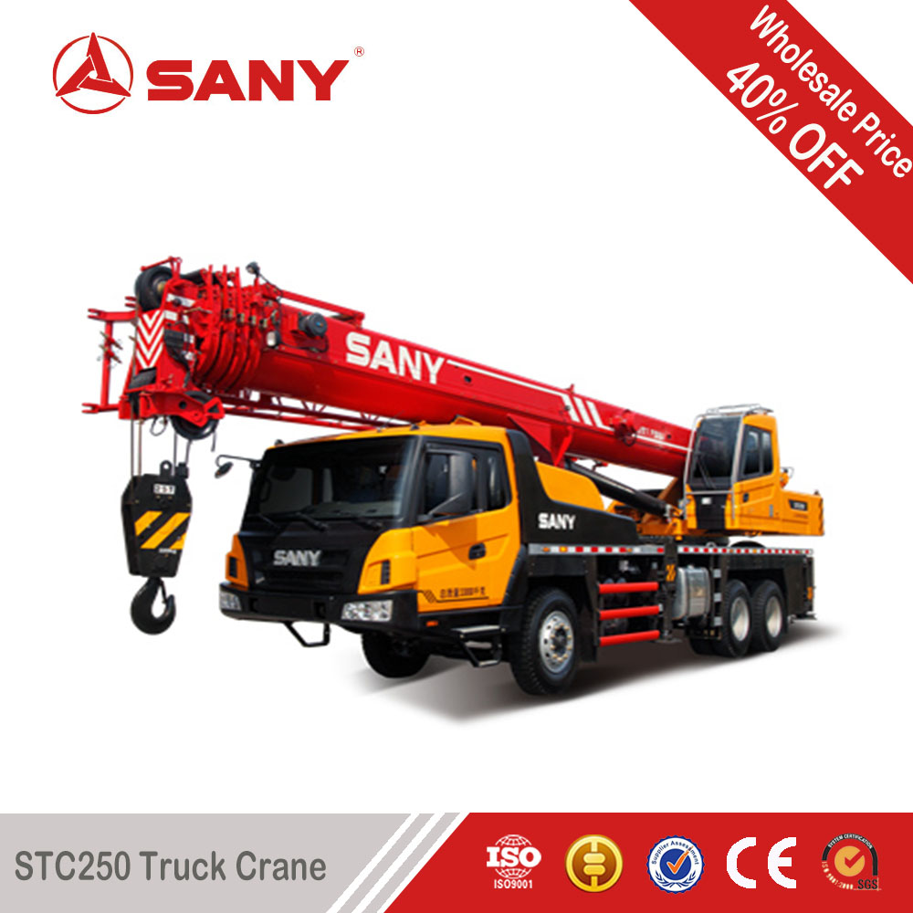 SANY STC250 25 Tons 2012 Year Used Condition Crane Truck Secondhand Truck Crane with EURO