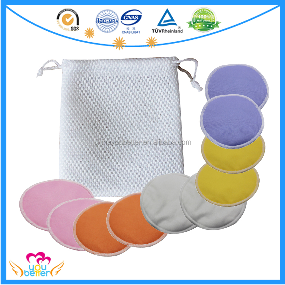 Good Quality Soft Bamboo Breast Pads Reusable Feeding Nursing Milk Pad With Mesh Bag