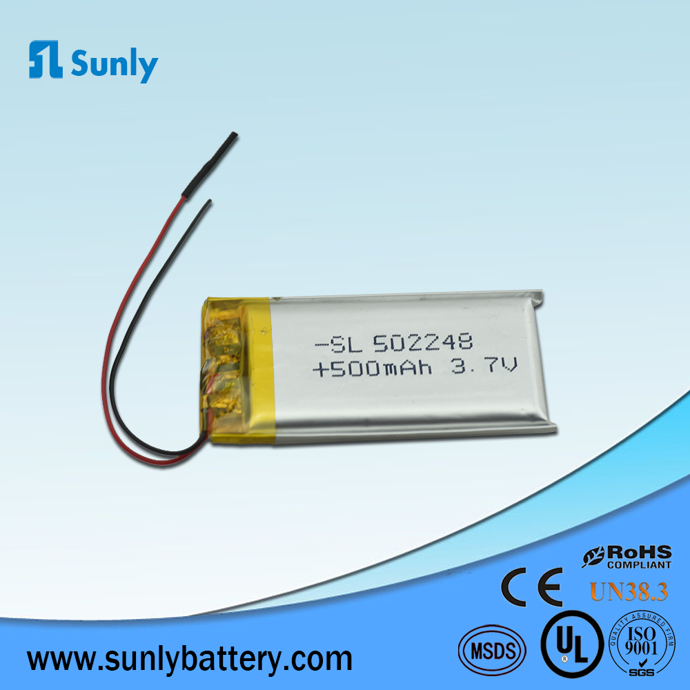 Rechargeable 3.7V 500mAh lithium polymer battery for Toy car