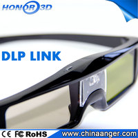 Honor3D Wholesale Cheap High Quality Cinema System Active Shutter Circular Make Polarized 3D Movie Glasses For Samsung/Sony