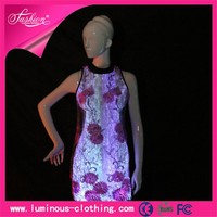 fiber optic clothing elegant women one piece dress casual stylish