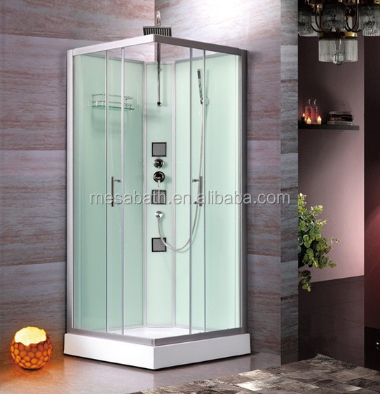 freestanding square shape bath room portable shower cabin with jets