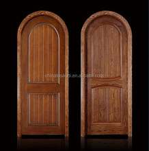 European Style Factory Price Solid Wooden Antique Arched Top Interior Doors