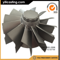 investment vacuum casting inconel 713c turbine wheel for turbo