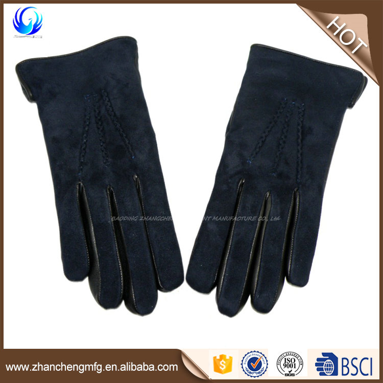 2016 New style suede leather gloves with high quality