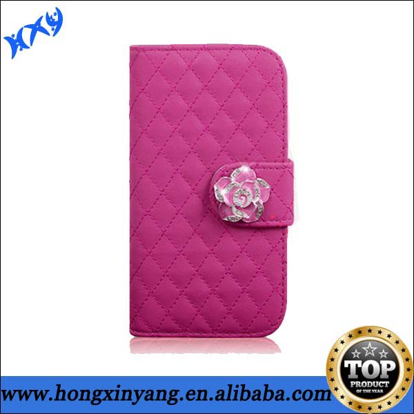 bling leather flip case for samsung galaxy note 2