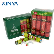 XINYA Wholesale China Factory Custom Small Christmas Holiday Crakers Novelty Bon Bons With Gift