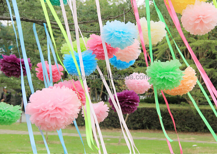 how to make large tissue paper balls Fluffy, colorful tissue paper balls are a party decor staple but if you need a bunch  of pom-poms in a pinch, there's no need to pay big bucks for.