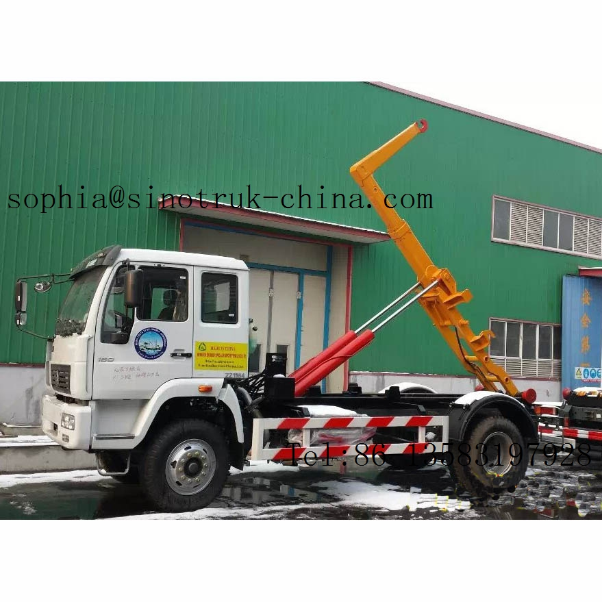 16Ton China 4x2 hook lift garbage truck for sale