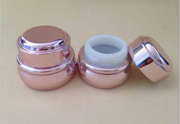 50g gold color ceramic cosmetic bottle, cosmetic acrylic luxury jar, cosmetic compact packaging