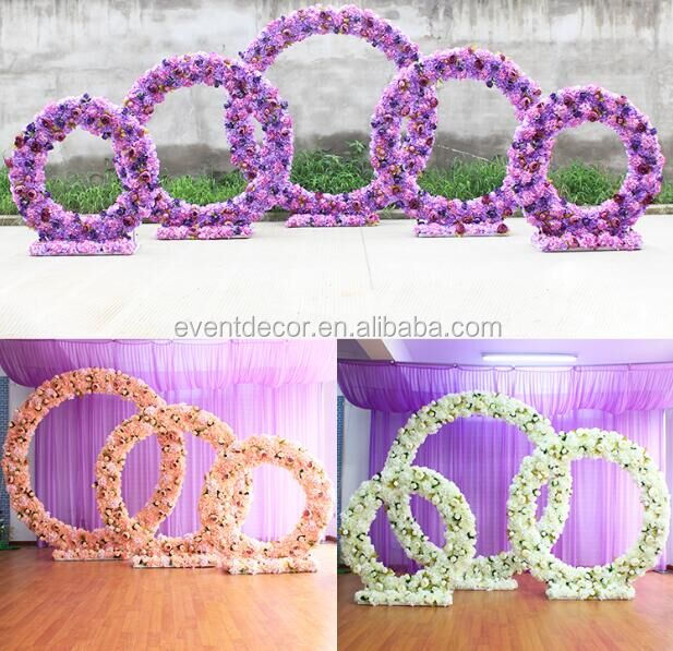 Wedding new round flower arch 3size and 3 color for decoration wedding road
