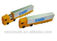 Plastic lorry usb flash memory with color printing, funny customed usb stick