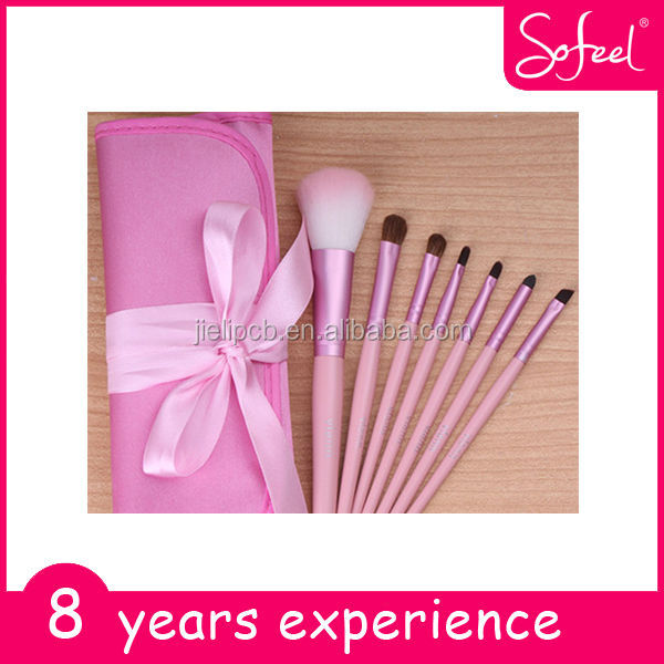 Sofeel Deluxe Cosmetic Brush Sets With Cosmetic Bag 7pcs Make Up Brush Sets