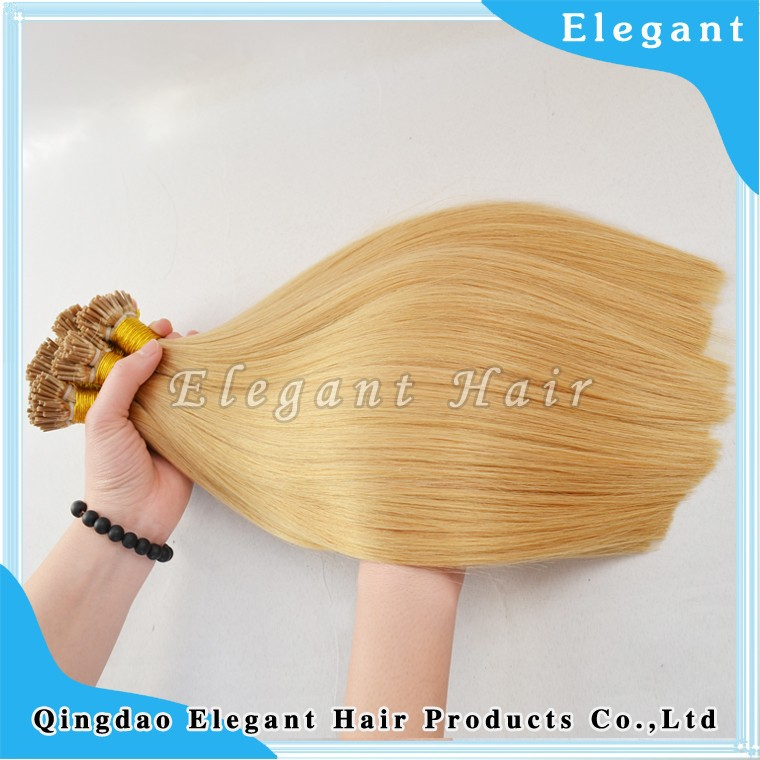 I tip shape pre bond 100%brazilian human hair hair extensions