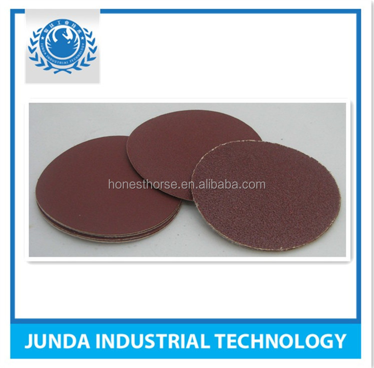 Velcro Hook and Loop Round Abrasive Sand Paper for Metal Abrasive sandpaper 10 years experience