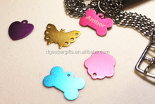 Personalized Engraved Butterfly Shaped Metal Name Tags/Pet Tags