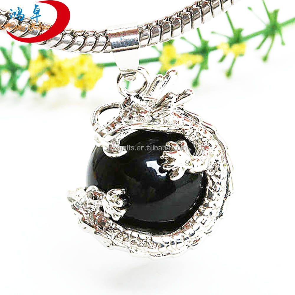 New Trend Produc black agateJewelry Wholesale fashion necklace Pendant Charm