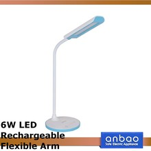 6w cheapest flexible kids reading lamp rechargeable battery led desk lamp