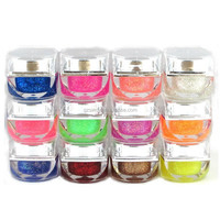 12 color fashion nail gel design jelly style glitter style