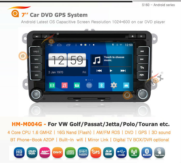 Hifimax car gps dvd for VW Cupra(2005-2010) Car DVD GPS with4 Core CPU Rockchip RK PX3,1GMH 1080P V-20 DISC WIFI 3G INTERNET DVR