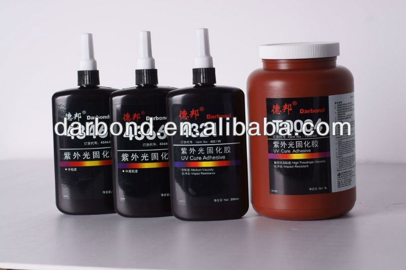 Amber One Component UV Cure Acrylic Adhesive/Glue for Metals to Glass/Crystal Bonding