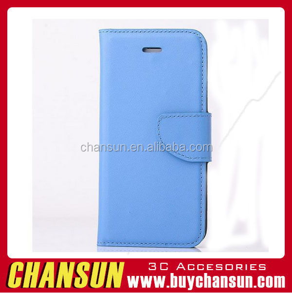 2016 hot selling factory PU Leather and Card Slots flip leather case Battery Cover for samsung s5