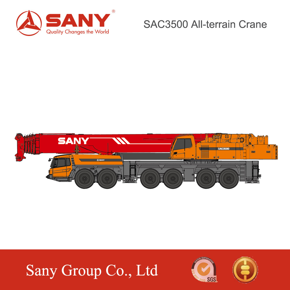 SANY SAC3500 350 Tons Heavy Truck Mounted Crane Mobile Crane top 10 crane manufacturers