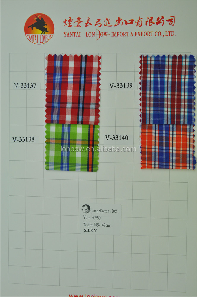 New development cotton woven shirt fabric ready goods for wholesale