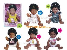 "16"" inch black doll with music DZC102113"