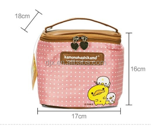 Latest Design Cosmetic Bag Cartoon make up bag with a mirror Travel Storage Case Small Make up Bag