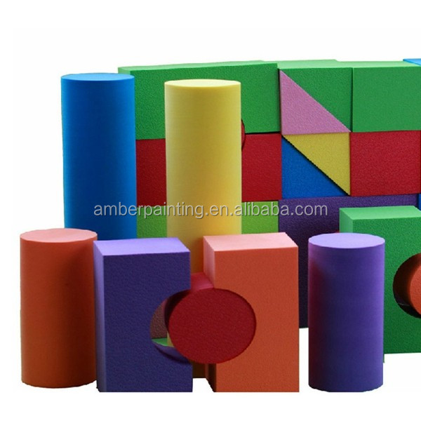 Soft eco friendly kids educational toys eva foam building block