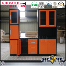 new model pre assembled kitchen cabinets stainless steel cabinet for kitchen